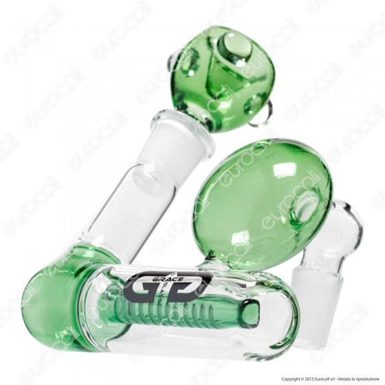 Precooler Grace Glass G1112G in Vetro Lavorato per Bong - Altezza 13 cm
