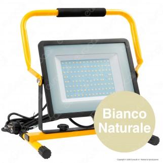 V-Tac PRO VT-109 Faro LED SMD 100W Slim IP65 da Esterno Colore Nero con Supporto da Terra H - SKU 20124 / 20125