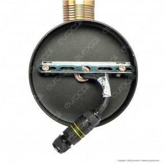 V-Tac VT-720 Portalampada da Giardino Premium Wall Lamp Nero e Bronzo da Muro IP65 per Lampadine E27 - SKU 8970