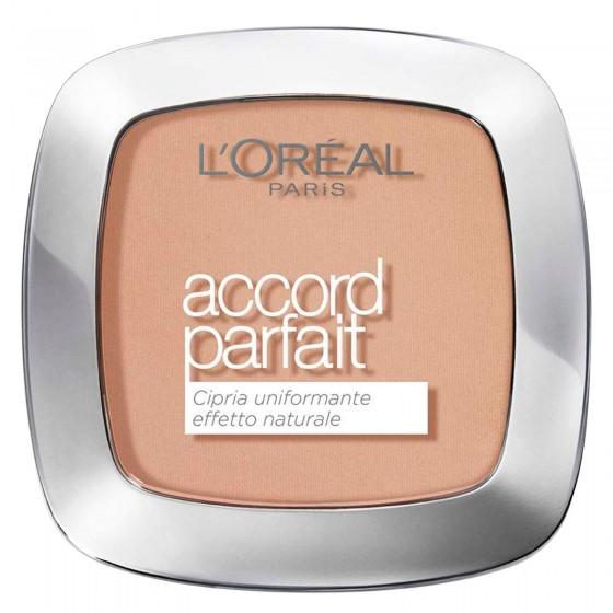 L'Oréal Paris Accord Parfait Cipria D3 Beige Doré - Confezione da 1 pezzo