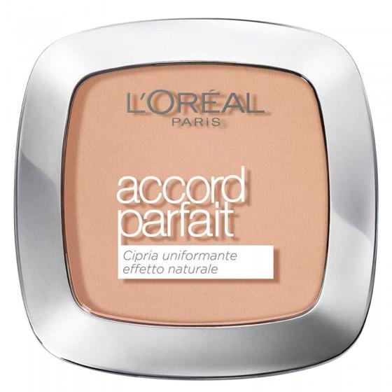 L'Oréal Paris Accord Parfait Cipria 3R Beige Rosé - Confezione da 1 pezzo