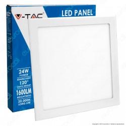 V-Tac VT-2407 SQ Pannello LED Quadrato 24W SMD da Incasso con Driver