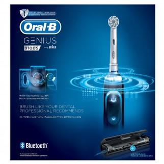 Oral-B Genius 9100S Spazzolino Elettrico Bluetooth con Custodia e 4 Testine di Ricambio