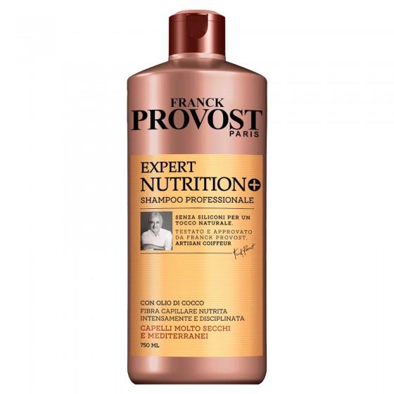 Franck Provost Expert Nutrition+ Shampoo Professionale per Capelli Molto Secchi con Burro di Karité - Flacone da 750ml