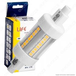Life Lampadina LED R7s L78 6W Bulb Tubolare - mod. 39.932205C / 39.932205N / 39.932205F