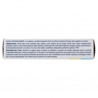 Bostik Supertrasparente Adesivo a Contatto Universale - Tubetto da 125g