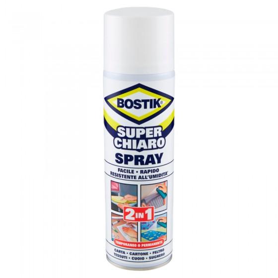Bostik Superchiaro Adesivo a Contatto Spray - Bomboletta da 500ml