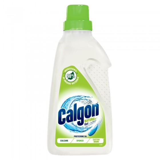 Calgon Natura+ Gel Additivo Lavatrice di Origine Naturale Anti-Calcare Elimina Sporco e Cattivi Odori - Flacone da 750ml