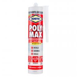 Bostik Poly Max Cristal Express Sigillante e Adesivo Super Rapido con Applicatore - Tubo da 300g