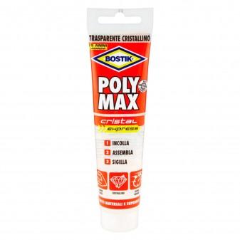 Bostik Poly Max Cristal Express Sigillante e Adesivo Super Rapido - Tubo da 115g