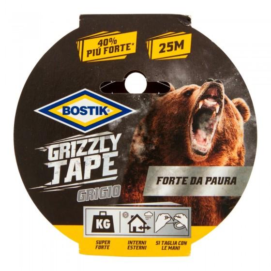 Bostik Grizzly Tape Nastro Grigio Telato in PE Impermeabile - 25 Metri