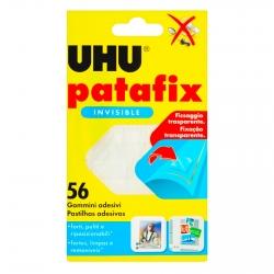 UHU Patafix Gomma Adesiva Invisible Trasparente Removibile - Confezione da 56 Gommini