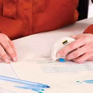 UHU Correttore Mini Roller per Carta Stampata o Scritta a Mano - 1 Blister da 3 Pezzi