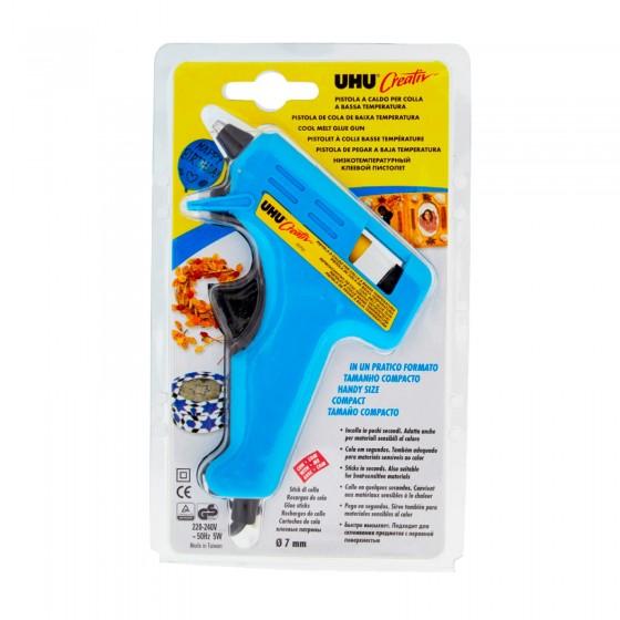 UHU Pistola a Caldo per Colla a Bassa Temperatura - Confezione con 1 Pistola e 2 Cartucce