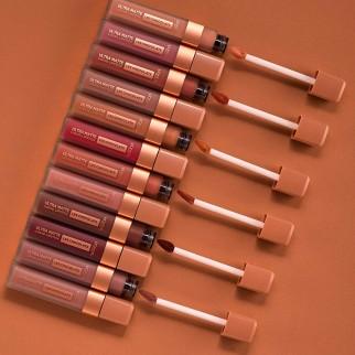 L'Oréal Paris Les Chocolats Ultra Matte Liquid Lipstick Tinta Labbra Colore 848 Dose of Cocoa Profumo al Cioccolato
