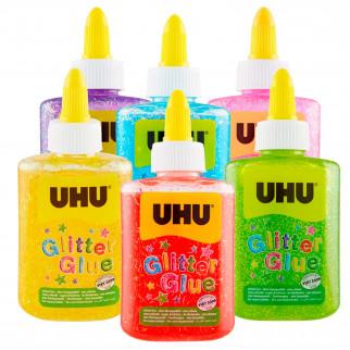UHU Colla Glitterata Glitter Glue Bottle - Flacone da 88,5ml