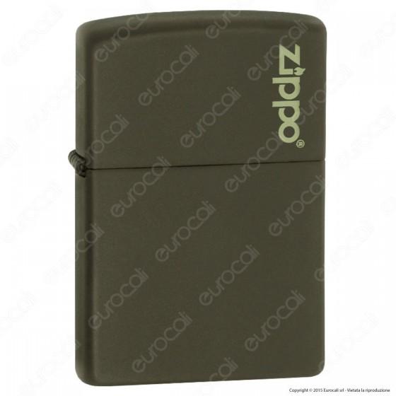 Accendino Zippo Mod. 221-ZL Verde Matte - Ricaricabile Antivento