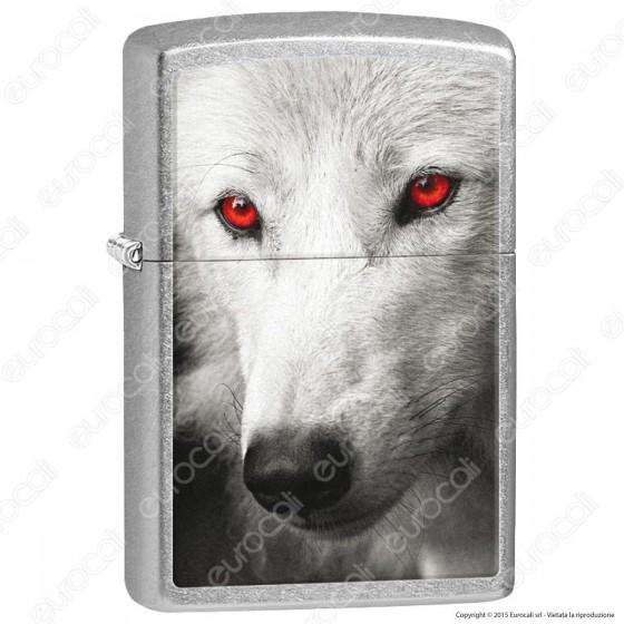 Accendino Zippo Mod. 28877 White Wolf - Ricaricabile Antivento