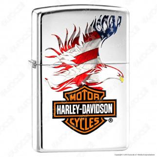 Accendino Zippo Mod. 28082 Harley-Davidson® American Flag - Ricaricabile Antivento