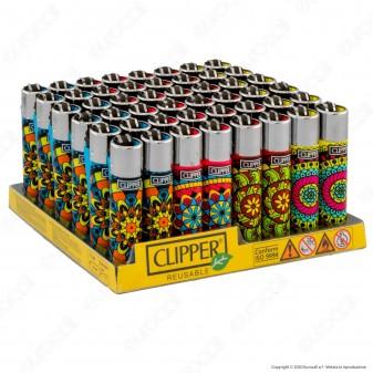Clipper Large Fantasia Mandala Pattern - Box da 48 Accendini