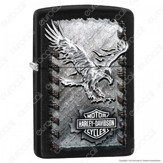 Accendino Zippo Mod. 28485 Harley-Davidson® Iron Eagle - Ricaricabile Antivento