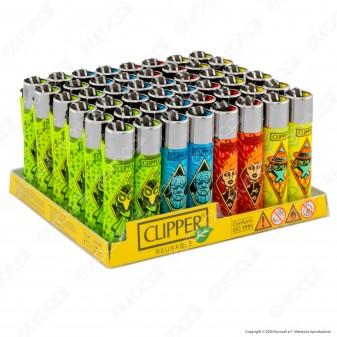 Clipper Large Fantasia Villans - Box da 48 Accendini