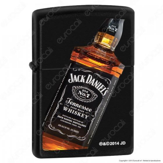 Accendino Zippo Mod. 14n043 Jack Daniels Bottiglia - Ricaricabile Antivento