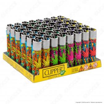 Clipper Large Fantasia Leaves Shock - Box da 48 Accendini