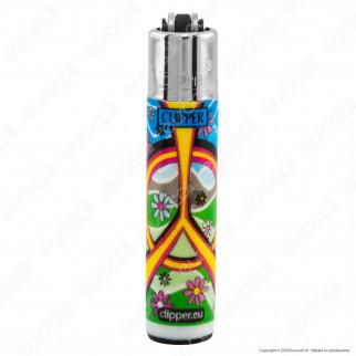 Clipper Micro Fantasia Hippie Peace 3 - Serie da 4 Accendini