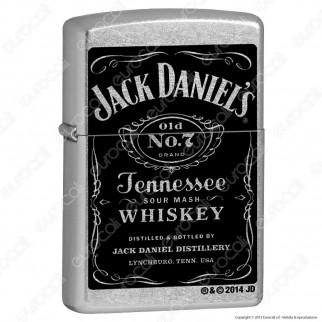 Accendino Zippo Mod. 24779 Jack Daniels® Label - Ricaricabile Antivento