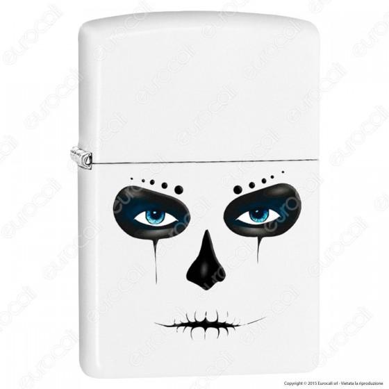 Accendino Zippo Mod. 28828 Scary Skull Mask - Ricaricabile Antivento
