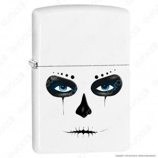 Accendino Zippo Mod. 28828 White Mask - Ricaricabile Antivento