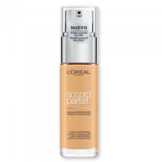 L'Oréal Paris Accord Parfait Fondotinta Fluido Naturale 4.D / 4.W Beige Doré