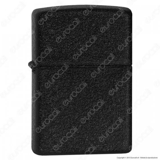 Accendino Zippo Mod. 236 Nero Black Crackle - Ricaricabile Antivento