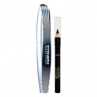 L'Oréal Paris Electric Nights Pochette Ciglia Finte Farfalla + Minimatita Le Khol Formato Viaggio