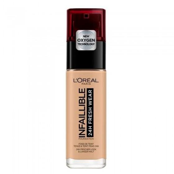 L'Oréal Paris Infaillible 24H Fresh Wear Fondotinta Liquido Coprente Waterproof Colore 140 Beige Doré