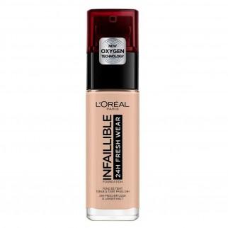 L'Oréal Paris Infaillible 24H Fresh Wear Fondotinta Liquido Coprente Waterproof Colore 110 Vanille Rosé
