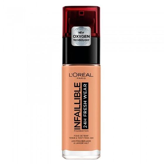 L'Oréal Paris Infaillible 24H Fresh Wear Fondotinta Liquido Coprente Waterproof Colore 300 Ambre