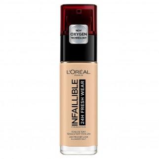 L'Oréal Paris Infaillible 24H Fresh Wear Fondotinta Liquido Coprente Waterproof Colore 100 Lin