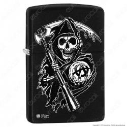 Accendino Zippo Mod. 28504 Sons Of Anarchy - Ricaricabile Antivento