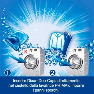 Dixan Duo Caps Cascata di Smeraldo Detersivo in Capsule per Lavatrice - Confezione da 30 Capsule