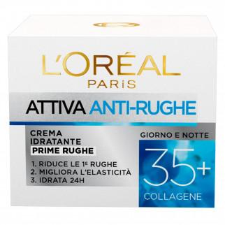 L'Oréal Paris Attiva Anti Rughe Crema Viso Idratante Prime Rughe con Collagene