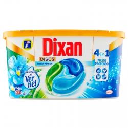 Dixan Discs Pulito Profondo Azione 4in1 Detersivo per Lavatrice - Confezione da 25 Capsule
