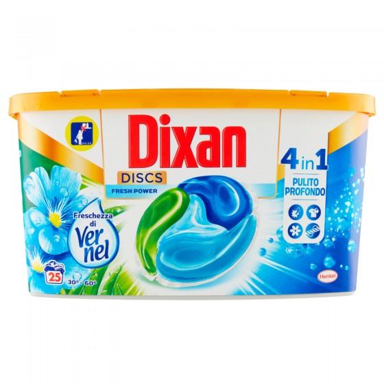 Dixan Discs Pulito Profondo Azone 4in1 Detersivo per Lavatrice - Confezione da 25 Capsule