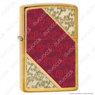 Accendino Zippo Mod. 28377 Red Luxus - Ricaricabile Antivento