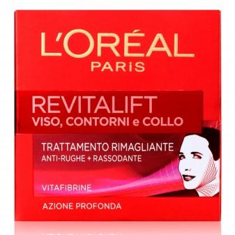 L'Oréal Paris Revitalift Crema Viso Anti-Rughe Rimagliante con Elastina e Vitafibrine