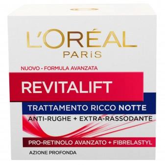 L'Oréal Paris Revitalift Crema Viso Notte Anti-Rughe Rassodante con Pro-Retinolo
