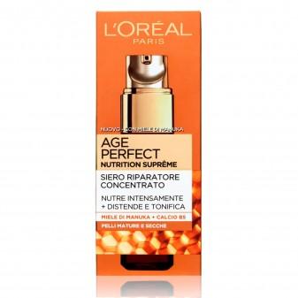 L'Oréal Paris Age Perfect Nutrition Supreme Siero Viso Riparatore Concentrato con Miele di Manuka