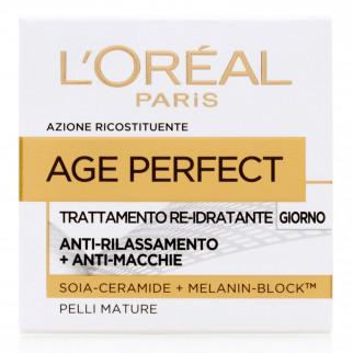 L'Oréal Paris Age Perfect Crema Viso Re-Idratante Giorno con Melanin-Block