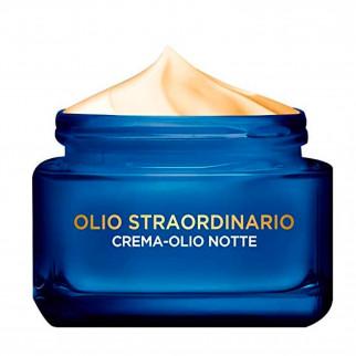 L'Oréal Paris Olio Straordinario Crema-Olio Viso Effetto Maschera Notte con Oli Essenziali